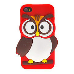 Cartoon Style 3D Owl Pattern Case for iPhone 4/4S (Assorted Colors)