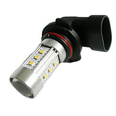 9006 15W 700lm 6500K 15-2323 SMD LED White Light Car Ajovalojen - Hopea + Musta (10 ~ 30V)