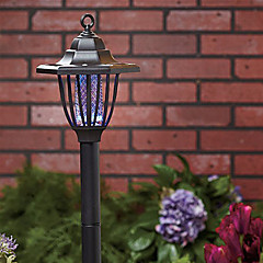 Paars en Wit Licht LED Solar Light Mosquito Zapper Stake Light