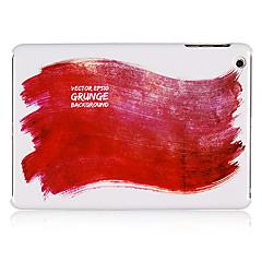 pintura padrão vermelho de plástico de volta caso para mini-ipad 3, mini iPad 2, iPad mini
