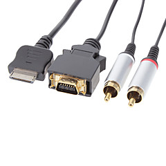 Gold Plated Audio Video AV Cable for PSP Go (1.6M)