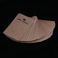 Papel de café clássica jóias Display Tag Para Brincos (café) (100 Pcs)