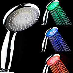 3-Color temperatuurgevoelige LED Color Changing handdouche