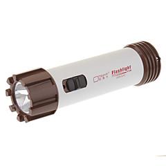 OMEIKA OMK-3260 2-Mode recargable 1xLED linterna (batería incorporada, Brown + Silver)