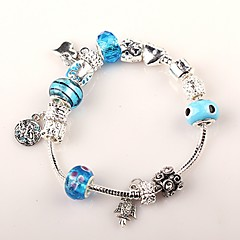 Women European Style Handmade blue beaded bracelets