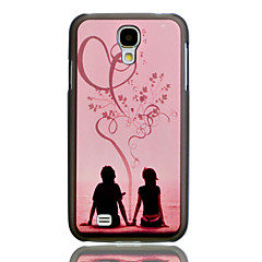 Romantic Lovers Embossment Painting Pattern Plastic Hard Back Case Cover for Samsung Galaxy S4 I9500