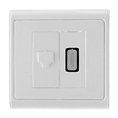 HDMI V1.3 Female naar RJ45 Female Network Wall Plate / stopcontact (type A 19-pins connector)