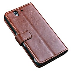 Luxury Retro Vintage Book Style Stand Wallet Leather Case For Sony Xperia Z L36H