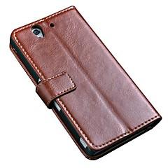 Luksus Retro Vintage Book Style Holder Wallet Læder Taske til Sony Xperia Z L36H