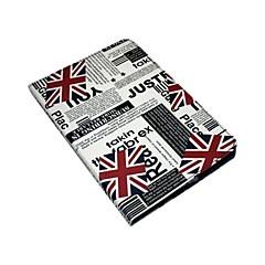 bandeira britânica estojo de couro pu com suporte para iPad mini 3, mini iPad 2, iPad mini
