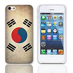 Vintage A bandeira do império coreano Padrão Hard Case com protetores de tela de 3-Pack para iPhone 5/5S