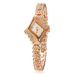 Diamante da Mulher Disque liga faixa de relógio de pulso de quartzo analógico (cores sortidas)