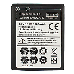 1500mAh Cell Phone Battery for HTC Wildfire S HD7 HD3 G13