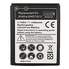 1500mAh mobiltelefon batteri till HTC Wildfire S HD7 HD3 G13