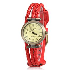 Kvinnors Rope Style PU Band Quartz armbandsur (blandade färger)
