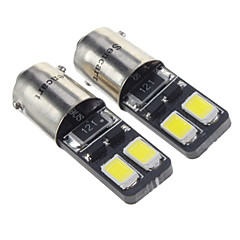 BA9S 1.5W 4x5730SMD 27LM 6000K Cool White Light LED Pære til bil (12V, 2 stk)