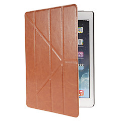 Transformer Folding Cross Pattern PU Leather Full Body Case with Stand for iPad Air (Assorted Colors)