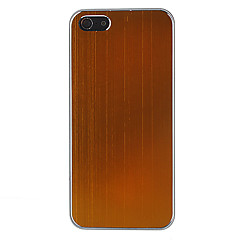 아이폰 5/5S를위한 도금 솔질 금속 피부 플라스틱 상자 덮개