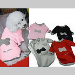 patrón óseo jersey de algodón suave para mascotas perros (colores surtidos, tamaños)
