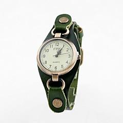Styl vintage Okrągły Punk Leather damski band Quartz Dial Wrist Watch (Analog różne kolory)