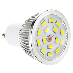 5W GU10 LED Spotlight 15 SMD 5730 100-550 lm Warm White Dimmable AC 220-240 V