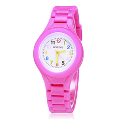 Children's Colorful Dial Silicone Band Quartz Analog Wrist Watch (Assorted Colors)