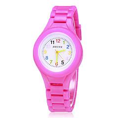 Barnas Fargerik Dial silikonbånd Quartz Analog armbåndsur (assorterte farger)