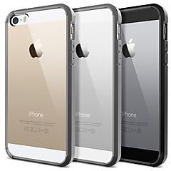 Solid Color Frame Transparent Back Case for iPhone 5/5S