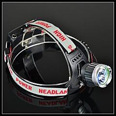BORUIT A16 uppladdningsbara 4-läge Cree XM-L T6 + Cree XP-G R5 2LED Headlamp (1200lm, 2 * 18650, Svart)