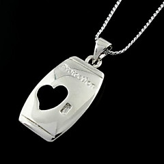 Korean Fashion Silver Heart Pendant Halsband (Random färg)
