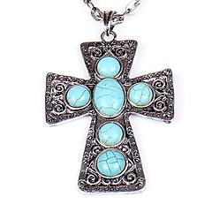 Claic Turquoie Women' Alloy Pendant Necklace(1 Pc)