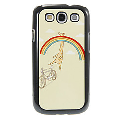 Rainbow and Giraffe Pattern Aluminum&Plastic Hard Back Case Cover for Samsung Galaxy S3 I9300