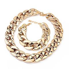 europæisk kæde armbånd & halskæde plast smykker sæt