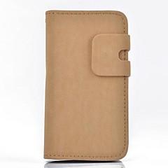 Affaire Full Body écureuil unité centrale de grain de cuir avec fente pour carte et Stand pour iPhone 4/4S (couleurs assorties)