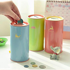 Tinplate Solid Color Piggy Bank(Random Color)