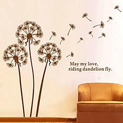 1PCS Brown Dandelion Pattern Muursticker wanddecoratie