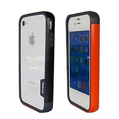 Mode double couleur TPU Bumper Frame pour iPhone4S (noir + orange)
