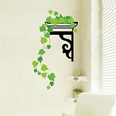 1st färgglada grönt blad hängande väggen klistermärke