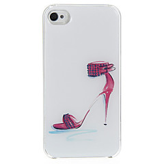 The Red High Heels Pattern Epoxy Hard Case for iPhone 4/4S
