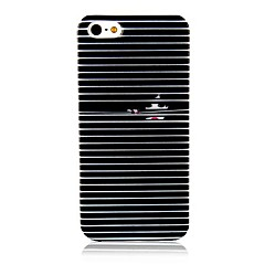 Black and White Curtain Pattern Silicone Soft Case for iPhone 4/4S