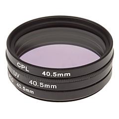 CPL + UV + Filtre FLD Définir pour appareil photo avec filtre Sac (40.5mm)