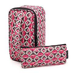 2PCS Portable Rose Quadrate&Briefcase Shaped Thicken Make up/Cosmetics Bag Set Cosmetics Storage