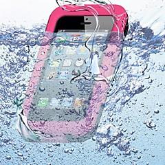For iPhone 5 etui Vandtæt Etui Heldækkende Etui Helfarve Blødt Silikone for iPhone SE/5s/5
