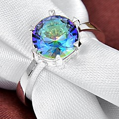 Fahion Women's Mytic Topaz ilver Ring 1Pc
