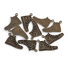 Charms Fashion Sneaker aleación de bronce de 10 piezas / Bolsa