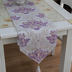 1 Purple Cotton Blend Rectangular Table Runners