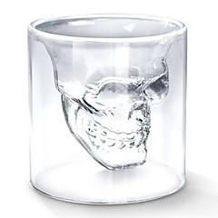 kyla transparent kreativa läskigt skull designen nyhet drinkware vin snapsglas kopp 75ml