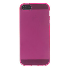 Translúcido Caso fina de borracha macia de TPU para o iPhone 5/5S Ultra (cores sortidas)