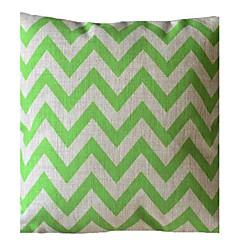 Ever Green Wave Stripe Dekorative Pillow med Insert
