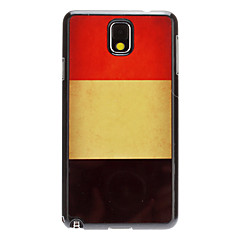 For Samsung Galaxy Note Mønster Etui Bagcover Etui Flag PC Samsung Note 3